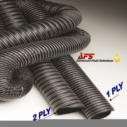 25mm I.D 2 Ply Neoprene Black Flexible Hot & Cold Air Ducting
